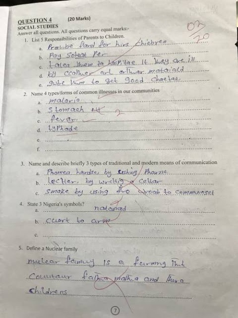 PICTURES: Governor El-Rufai releases teachers' test papers and they are SHOCKING!!!