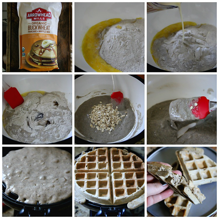 "Buckwheat Waffles - GF, DF RECIPE --- Buckwheat has been fantastic for us, and it's a perfect way to include a nutritious meal at least for a breakfast. Like I said below in my notes, Buckwheat is naturally gluten free even though the ""wheat"" throw you into believing that it's not. It has 40g of whole grain per serving and a good source of fiber."