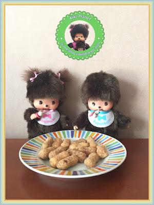 Baby et Maddy les Bebichhichi dégustent des bonbons vintage - bonbon feuillete à la cacahuète