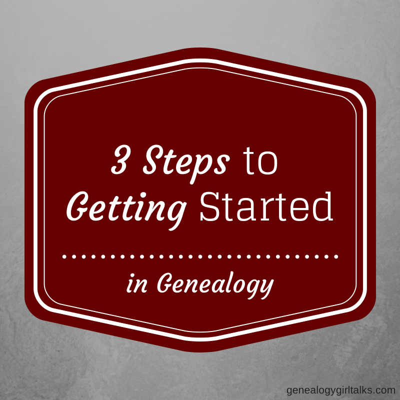 3 Steps to Getting Started in Genealogy
