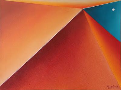 Arte abstrata: Formas cores e nada mais - Mista s/tela, fevereiro de 2016 - Elma Carneiro