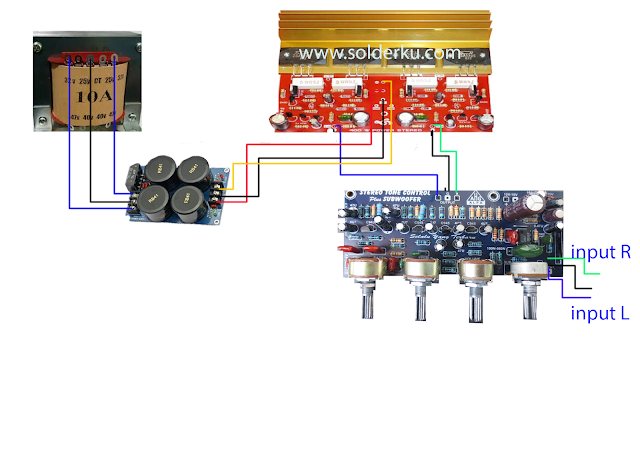 cara memasang tone control subwofer