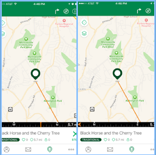 Geocache-app-direction