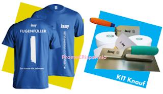 Logo Concorso #iostuccoconfugenfuller: premi sicuri per tutti e vinci kit profotti Knauf
