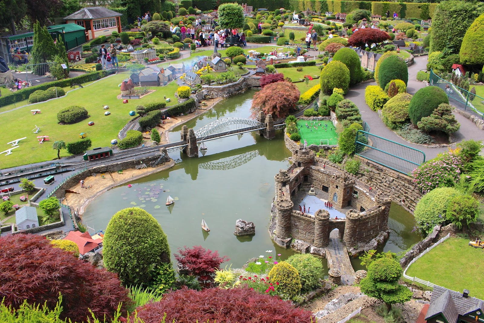 Full view of Bekonscot model village