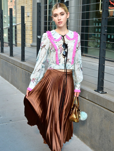 NYFW Street Style, fashion week, new york fashion week, asos, pleated skirt, ruffled blouse, style blogger,,ootd