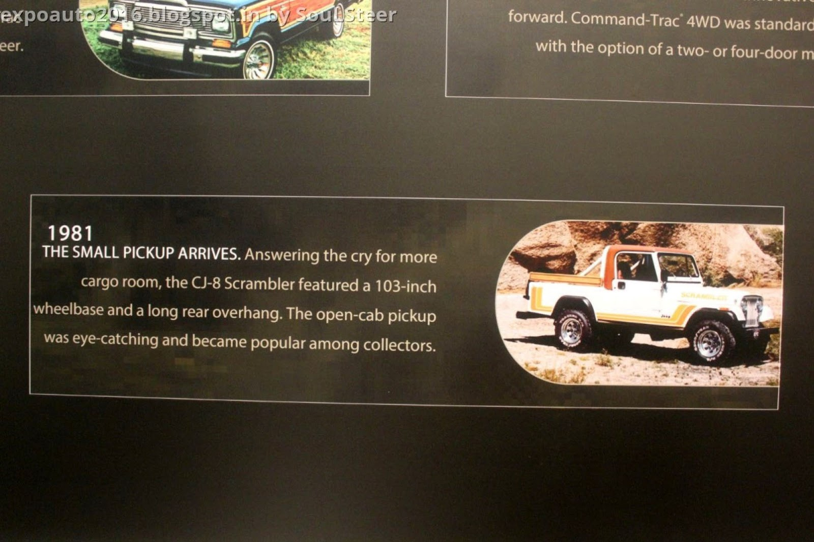 Auto Expo 2016 By Soulsteer Learn About The History Of Jeep From 1941 Willys Pickup Trucks Posted Shobhit Gosain At 1103 Pm