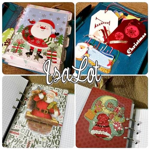 Isalot scrapbooking ideas econ micas para decorar tu agenda en navidad tutorial c mo hacer un - Como decorar una agenda ...