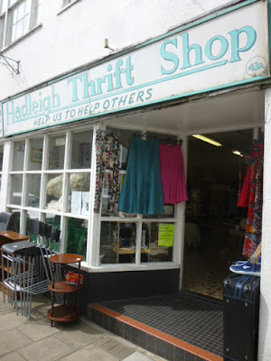 A picture of the front of the Hadleigh Thrift Shop, one of the charity shops on Hadleigh High Street