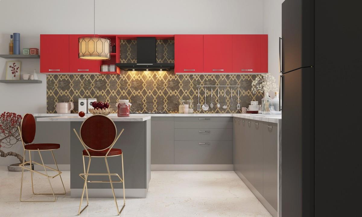 L Shaped Modular Kitchen Design Images Home Interior Exterior Decor Design Ideas