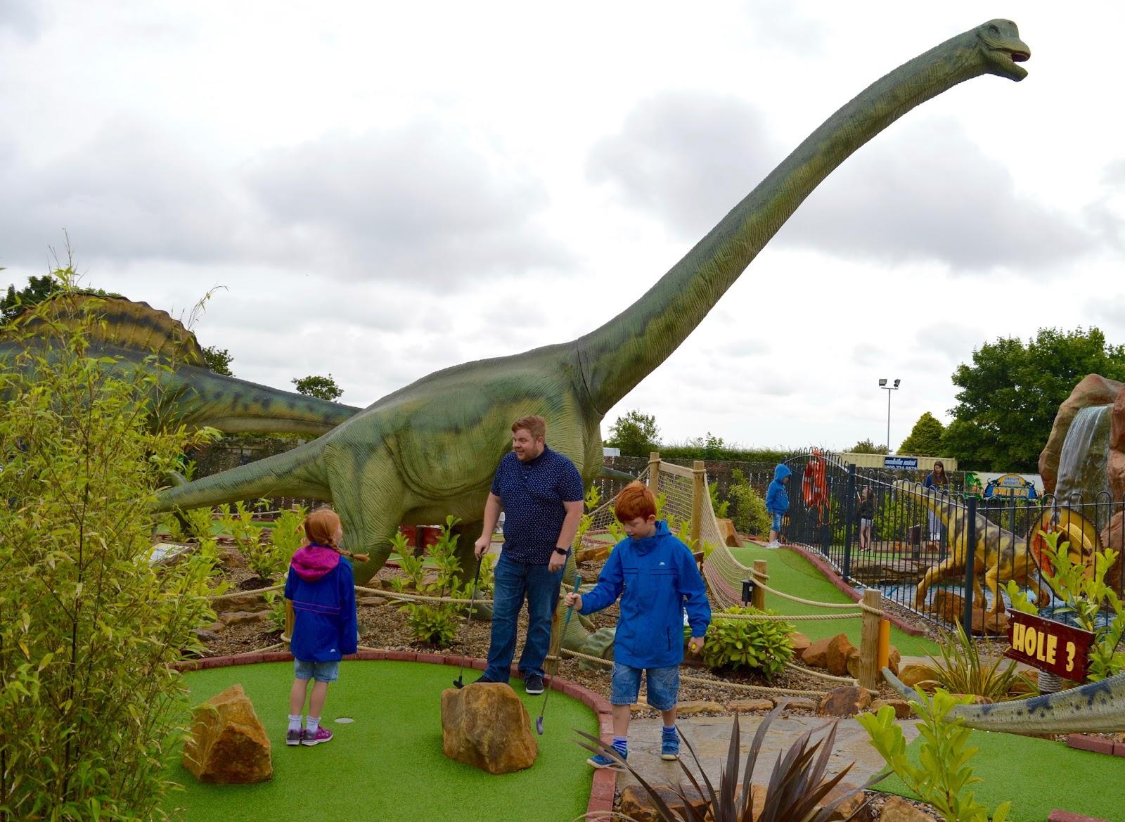 Jurassic Dinosaur Crazy Golf at Heighley Gate Garden Centre near Morpeth