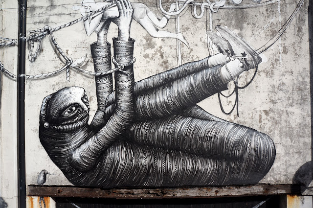 Street Art Collaboration By Phlegm And Run For Empty Walls Urban Art Festival 2013 In Cardiff, Wales. 3