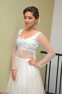 Anu Emmanuel in a Transparent White Choli Cream Ghagra Stunning Pics 088.JPG