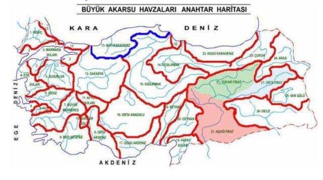 akarsular haritası
