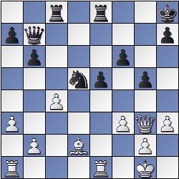 Torneo de Maestros del Comtal 1934, posición de la partida de ajedrez Bertrana – Ribera después de 26. c4