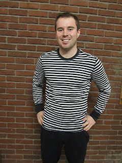 lululemon black and white striped shirt