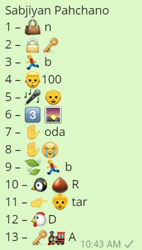 Sabjiyan Pahchano Whatsapp Emoji Quiz