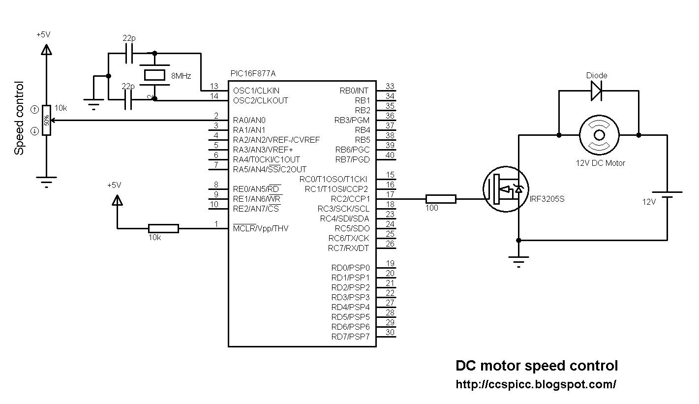 hight resolution of pic16f877a dc motor speed control circuit ccs