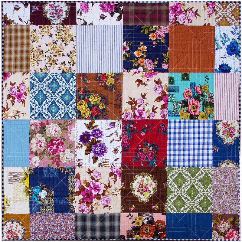 Outback Wife - Courthouse Steps Quilt - quilt back | © Red Pepper Quilts 2018