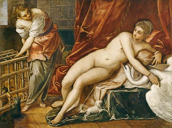 Leda y el cisne. Galeria Uffizi