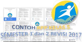 download RPP kelas 5 Semester 1 dan 2 revisi 2017