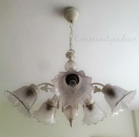 como reciclar antiguas lamparas de araña