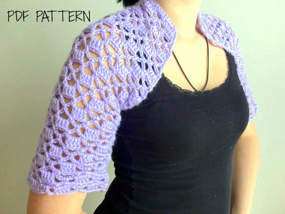 lace shawl shrug crochet pattern