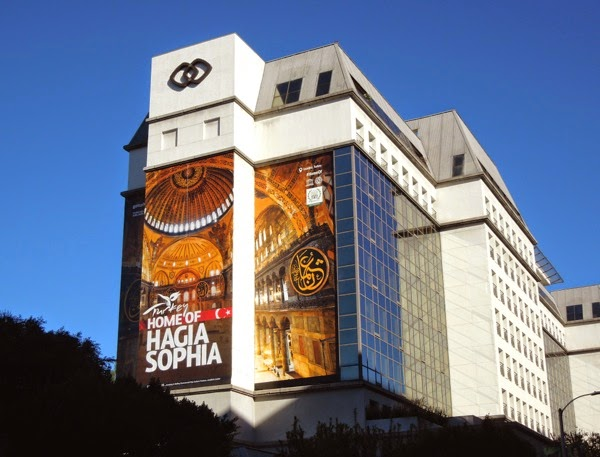 Giant Turkey Hagia Sophia tourism billboard
