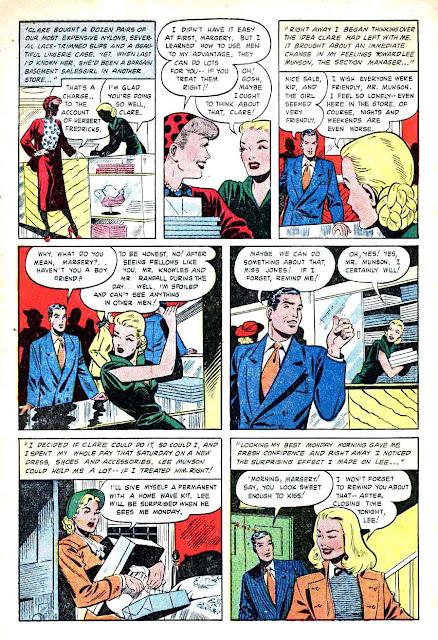 Matt Baker comic book page art, 1940s st. john golden age romance, Pictorial Confessions v1 #3