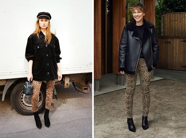 Узкие леопардовые брюки с курткой оверсайз
