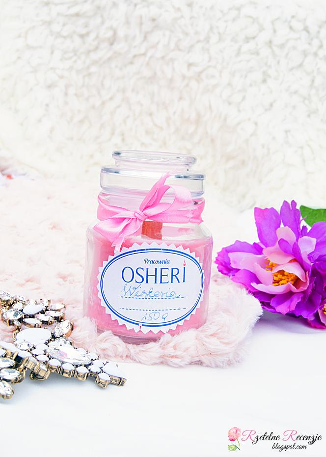 świeca zapachowa w szkle, jaśmin, wisteria, najpiękniejszy zapach świecy