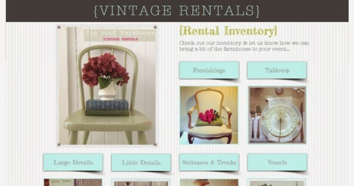 Tin Roof Farmhouse Vintage Rental Inventory
