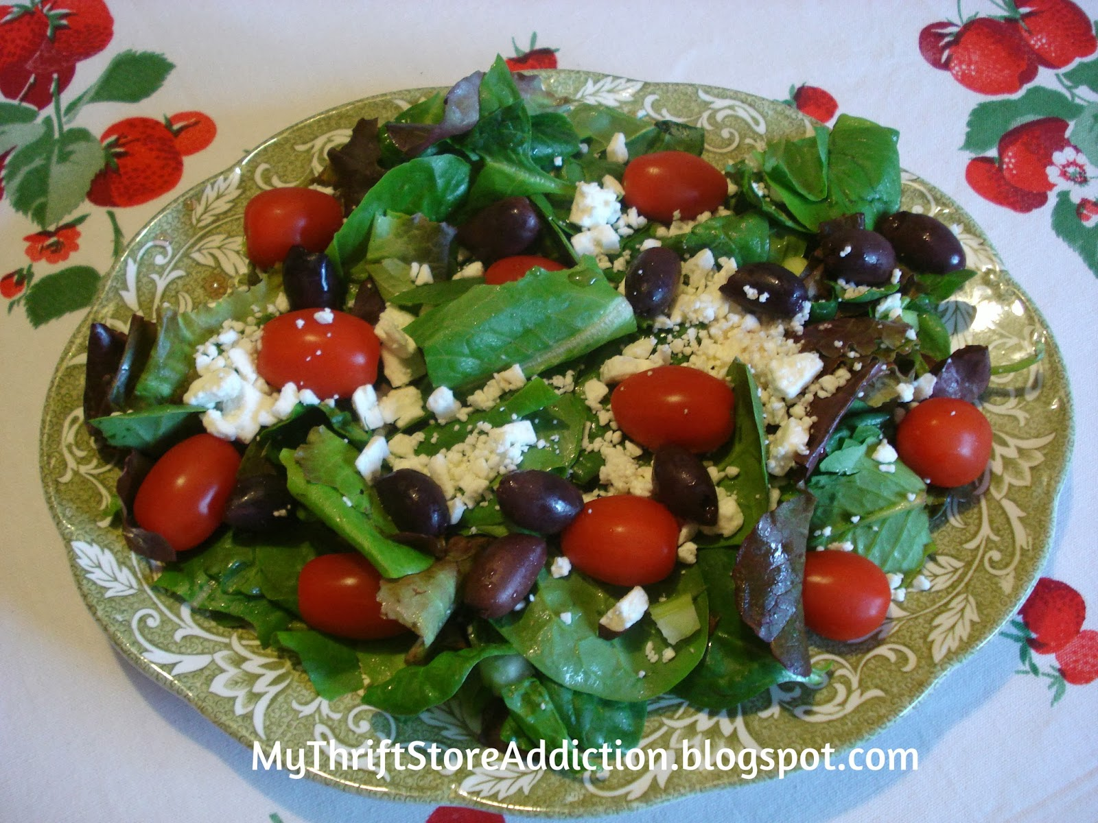 Secret Garden Herbs Greek salad