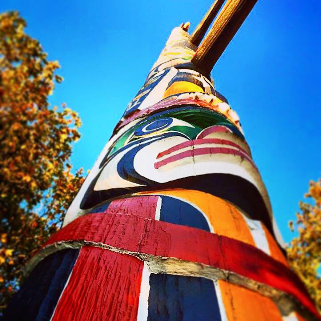 Victoria, British Columbia Totem Pole