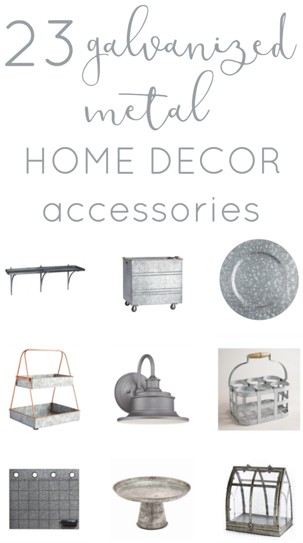 23 galvanized metal home decor accessories