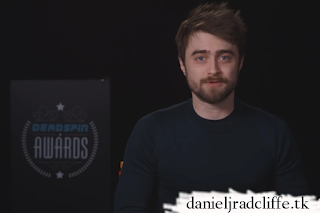 Daniel Radcliffe presents at the 2018 Deadspin Awards