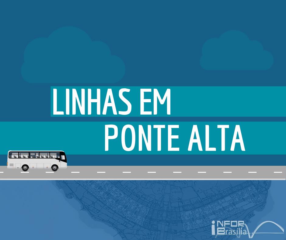 Horário de ônibus das linhas da Ponte Alta