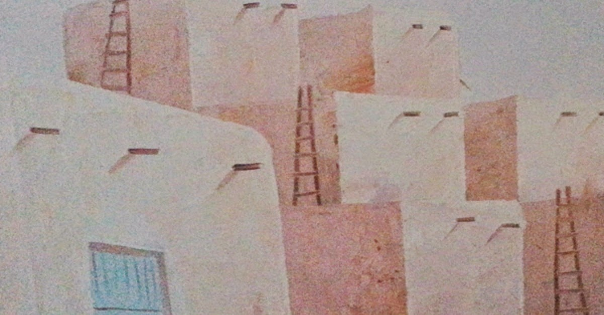 Southwest Indian Pueblo R. Franco Original Oil - OKC Craigslist Garage Sales