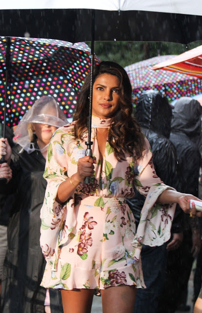 Priyanka Chopra On Sets of Isn't It Romantic Hollywood Movie Photos