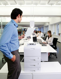 office workers wireless printer