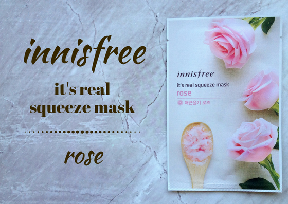 ZAMASKOWANA ŚRODA Z SINGASHOP.PL | INNISFREE IT'S REAL SQUEEZE MASK ROSE