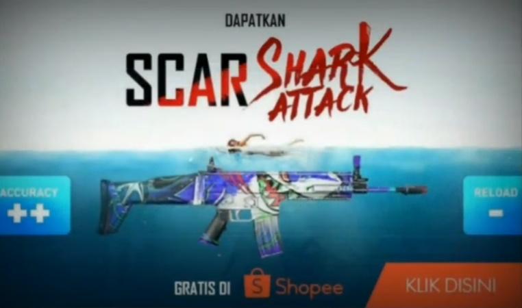 Skin SCAR SHARK ATTACK Free Fire Gratis di Shopee