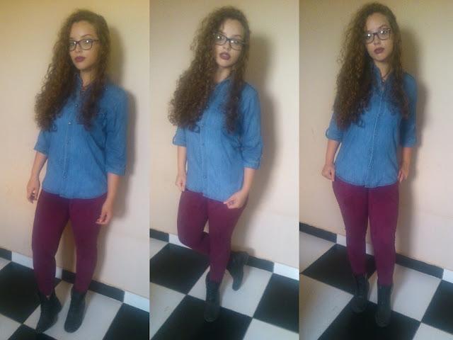 1 Peça 5 Looks! Blog Insaturada! Blusa jeans e calça colorida!