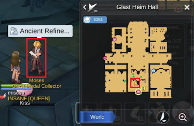 NPC Ancient Refine di Glast Heim Hall Ragnarok Mobile Eternal Love