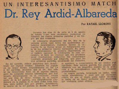 Match Miquel Albareda - Dr. Ramón Rey Ardid