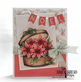 Our Daily Bread Designs Stamp: Poinsettia Box, Paper Collection: Christmas 2018, Custom Dies: Pierced Rectangles, Alphabet Flags