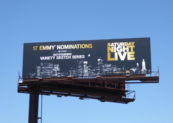 Saturday Night Live 2016 Emmy nomination billboard
