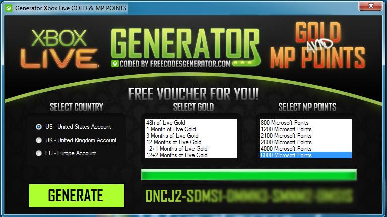 xbox live code generator no surveys online