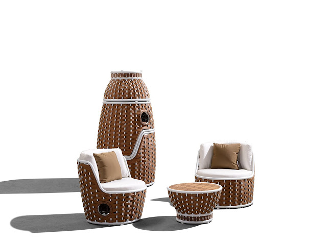 Outdoor Rattan Furniture 3-Piece Shenzhou Bistro Set