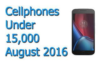 Smartphones under 15,000 in August 2016